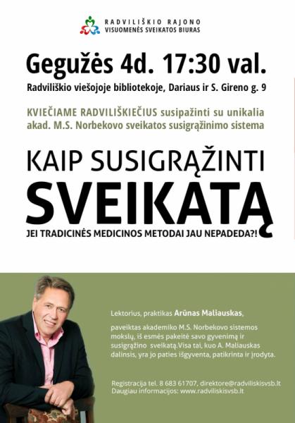 Kaip susigrąžinti sveikatą? @ Radviliškio rajono viešoji biblioteka | Radviliškis | Šiaulių apskritis | Lietuva