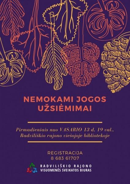 Jogos užsiėmimai @ Radviliškio r. savivaldybės viešoji biblioteka